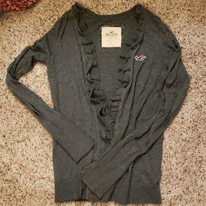 Hollister heather grey swing front cardigan